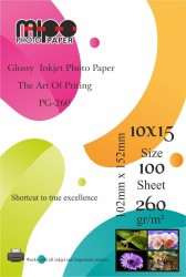 Mipo Photo Paper - 10x15 Parlak İnkjet Fotoğraf Kağıdı 260gr. MİPO