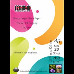 Mipo Photo Paper - A3 Parlak Fotoğraf Kağıdı 260gr. İnkjet MİPO