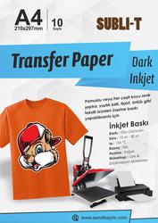 Subli-T - A4 Koyu Zemin Pamuklu Tişört Transfer Kağıdı