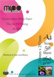 Mipo Photo Paper - A4 Parlak Fotoğraf Kağıdı 260gr. İnkjet MİPO