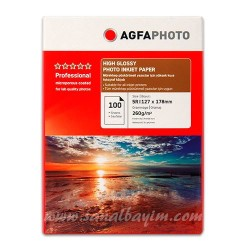 - AGFA High Glossy Photo Paper 13x18 260gr 100lü