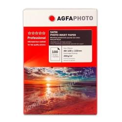 AGFA PHOTO - AGFA Satin Photo Paper 10x15 260gr 100lü