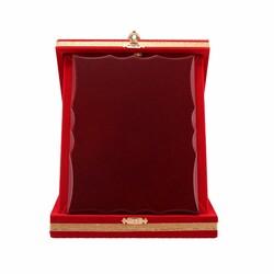 - Ahşaplı Plaket Kutusu 12x16 Kırmızı Dikey (1)
