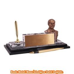 Digitronix - Altın Atatürklü Kristal Masa İsimliği KC1609