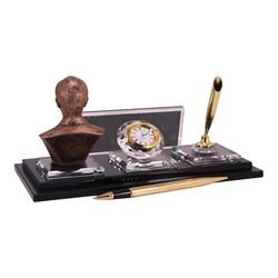 Digitronix - Altın Atatürklü Kristal Masa İsimliği KC1609 (1)