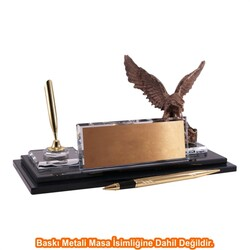 Digitronix - Altın Kartal Kristal Masa İsimliği KC1607