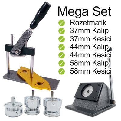 Buton Rozet Baskı Makinesi Mega Set