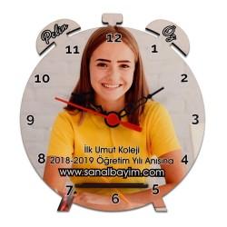 - Çalar Saat Şekilli HDF Masaüstü Saat