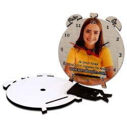 - Çalar Saat Şekilli HDF Masaüstü Saat (1)