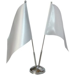 - Çiftli Metal Masa Bayrak Direği (1)