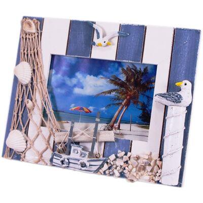 Ahşap Deniz Temalı Fotoğraf Çerçevesi WL-1221