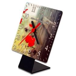 - Digitronix HDF Sublimasyon Kare Saat Masaüstü (1)
