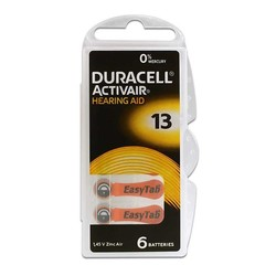 - Duracell Activair 13 Kulaklık Pili 6lı Blister