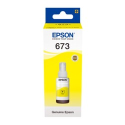 Epson - Epson T673 Orjinal Sarı Mürekkep 70 ml