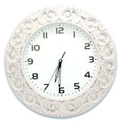 - Foto Saat Yuvarlak Beyaz Çatlatma C1123