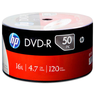HP Printable DVD-R 4,7 GB 50li Paket