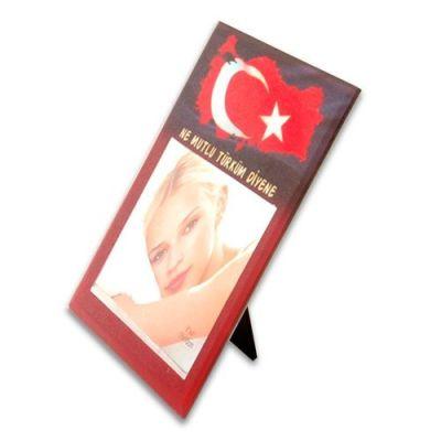 HS 46 Cam Çerçeve 10x15 Türkiye Desenli