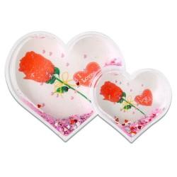 - İkili Kalp Şekilli Kar Küresi 5027