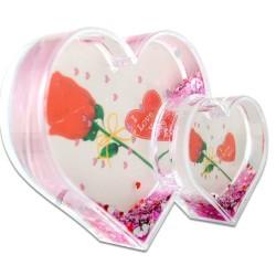 - İkili Kalp Şekilli Kar Küresi 5027 (1)