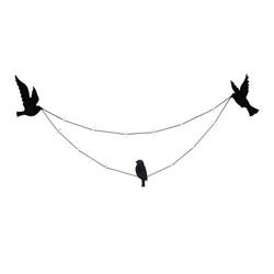 - İpli Mandallı Fotoğraf Çerçeve Teldeki Kuşlar (1)