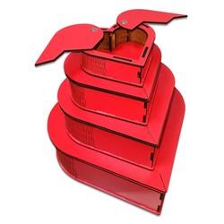 - Kanatlı Kalp Ahşap 4lü Kutu Seti