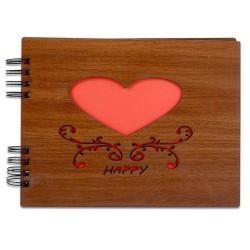 Kendin Yap Ahşap Love Desen Fotoğraf Albümü - Thumbnail