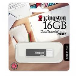 Kingston - Kingston 16GB USB 3.0-3.1 Mini Flash Disk DTM7/16