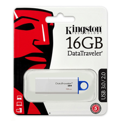 Kingston - Kingston 16GB USB 3.0 Flash Disk DTIG4/16