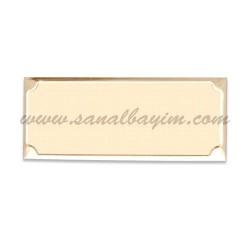 - Lazer Kazıma Alüminyum Altın Plaket 6,2cm x 2,5cm