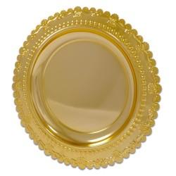 - Metal Ödül Tabağı M301B Altın 25cm