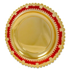 - Metal Ödül Tabağı M301B Altın Kırmızı 25cm