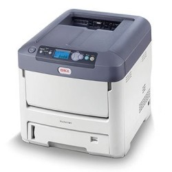 OKI - OKI 7411WT Beyaz Tonerli Lazer Yazıcı
