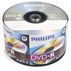 - Philips DVD-R 4.7GB 50lik Paket