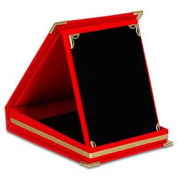 - Plaket Kutusu 12x16 Albüm Kutu Kırmızı Dikey