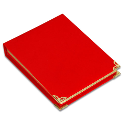 - Plaket Kutusu 12x16 Albüm Kutu Kırmızı Dikey (1)