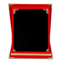 - Plaket Kutusu 9x12 Albüm Kutu Kırmızı
