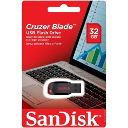 - Sandisk 32 GB USB SDCZ50 2.0 Cruzer Blade