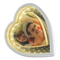 - Sihirli Ayna Çerçeve Ledli Kalp İki Renk Işık