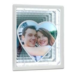 - Sihirli Ayna Çerçeve Ortası Kalp Ledli Dikdörtgen
