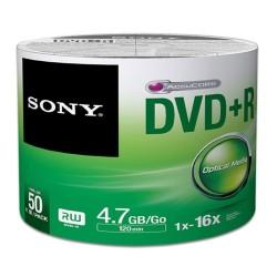 - Sony DVD+R 4,7GB 50lik Paket