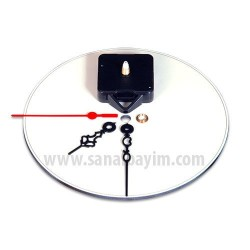 - Sublimasyon 20cm Yuvarlak MDF Saat (1)