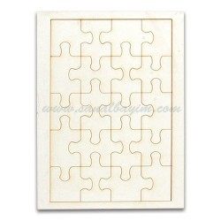 - Sublimasyon A5 Ahşap Puzzle 20 Parça