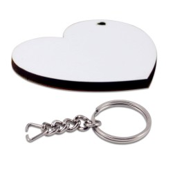 - Sublimasyon Anahtarlık HDF Kalp Çift Taraflı 5x5,5cm (1)