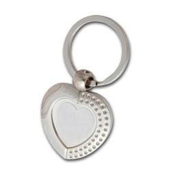 - Sublimasyon Anahtarlık Metal KR 055 Kalp Taşlı