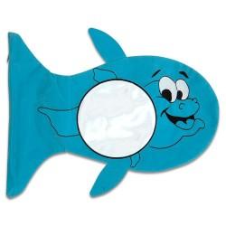 - Sublimasyon Balık Figürlü Yastık Kılıfı Mavi