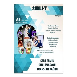 Subli-T - Sublimasyon Transfer Baskı Kağıdı A3 Sert Zemin Subli-T