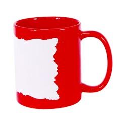 - Sublimasyon Dekoratif Alanlı Kırmızı Kupa