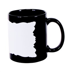 - Sublimasyon Dekoratif Alanlı Siyah Kupa