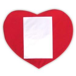- Sublimasyon Düz Kırmızı Kalp Dikey Kılıf