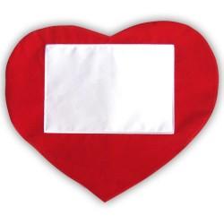 - Sublimasyon Düz Kırmızı Kalp Yatay Kılıf